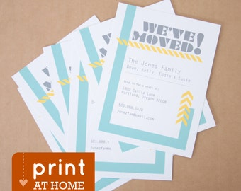 We've Moved Personalized Moving Announcement // Print at Home // Printable Moving Annoucement // Custom Moving Card