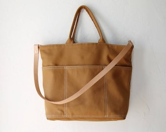 Utility Tote in Cinnamon Brown
