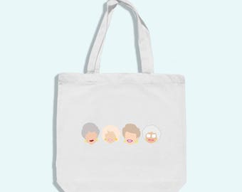 golden girls tote bag - golden girls tote - golden girls art - golden girls art print - golden girls gift - thank you for being a friend