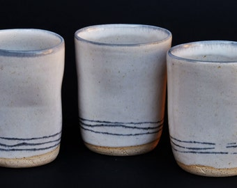 Mug glass stoneware without handle Mishima technique
