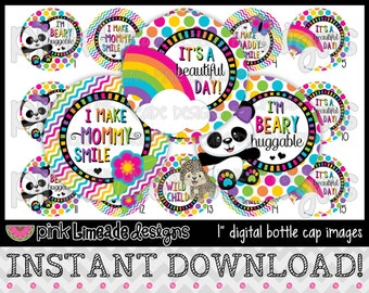 """Beautiful Day - INSTANT DOWNLOAD 1"""" Bottle Cap Images 4x6 - 615"""