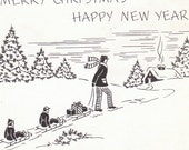 Merry Christmas- Happy New Year- 1940s Christmas Letter Insert