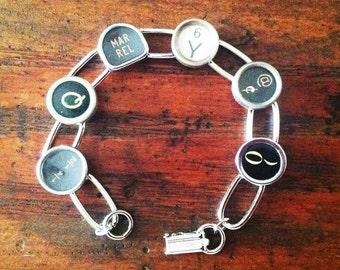 Typewriter Key Bracelet - random keys