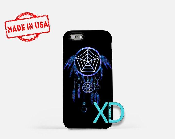 Blue Dreamcatcher iPhone Case, Blue Dreamcatcher iPhone 8 Case, iPhone 6s Case, iPhone 7 Case, Phone Case, iPhone X Case, SE Case