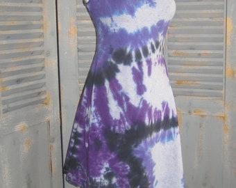 Swing Dress, Tie Dye, Sleeveless, Festival Dress, Mini Dress, Boho Chic