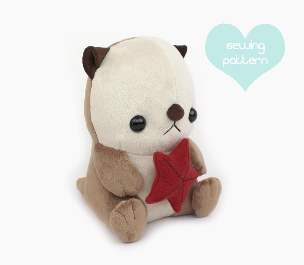 Pdf sewing pattern sea otter plush stuffed animal tutorial zoom jeuxipadfo Image collections