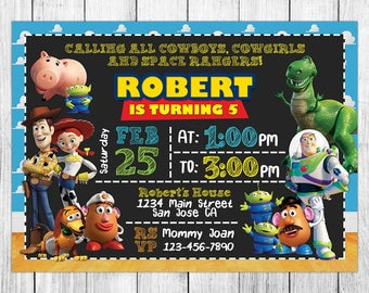 Toy story invitation etsy toy story invitation toy story birthday invitation toy story birthday party toy story thank you card personalized digital file stopboris Gallery