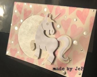 handmade cute Unicorn card...