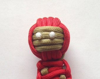 Custom Two Color Paracord Ninja Keychain