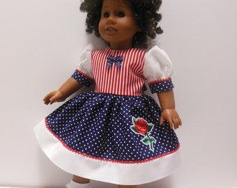 American Girl 18 Inch Doll Dress with Lace & Trim