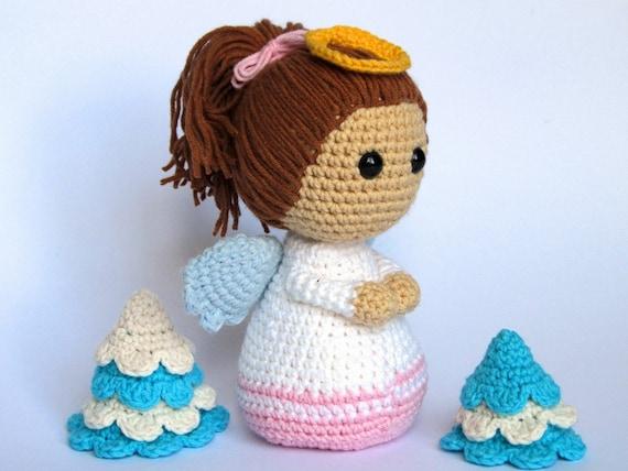 Tutorial Angioletto Amigurumi : Little angel amigurumi crochet pattern pdf e book stuffed