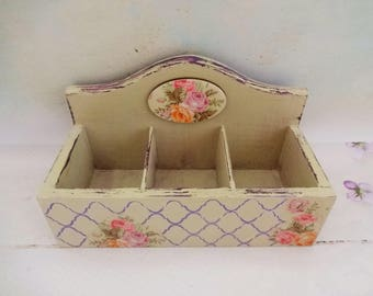 Tea Bags Box, Decoupage Gift, Tea Bags Holder, Housewarming Gift, Mothers Day Gift, Floral Kitchen Box, Tea Storage Box, Decoupage Box