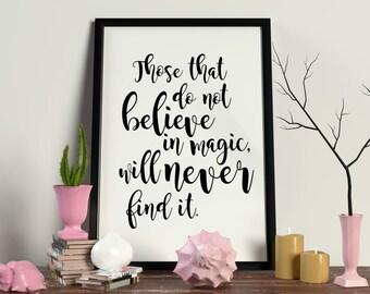 Believe in Magic Digital Art Printable