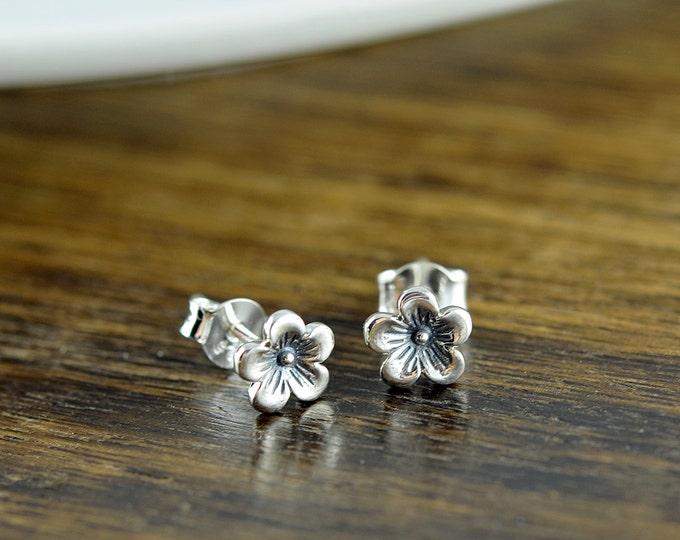 cherry blossom earrings - bridesmaid earrings - flower earrings - cherry blossom jewelry, bride jewelry - wedding jewelry - wedding earrings