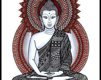 Buddha Zentangle Art Print