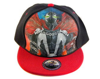 Handpainted Spawn on Snapback