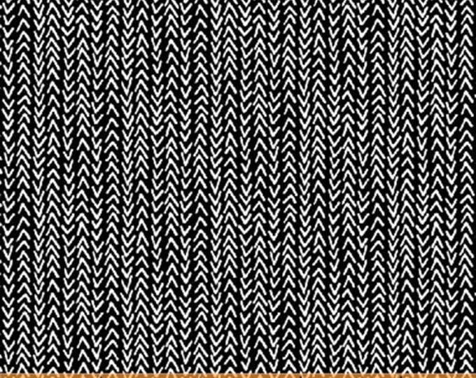 HARMONY - Herringbone in Black / White - Cotton Quilt Fabric - Geometric Blender - Another Point of View - Windham Fabrics - 42189-1 (W4678)