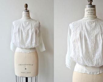 Devereux Road blouse | antique 1910s blouse | Edwardian white cotton blouse