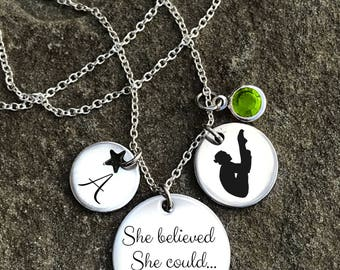 Diving Necklace, Diver Necklace, Diving Jewelry, Diver Jewelry, Dive Necklaces, Dive Jewelry, Diving Gift, Girls Diving Gift,Diver Girl Gift