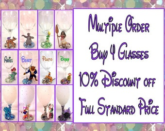 Multiple Order Buy 4 Glasses receive 10% Discount off Full Standard Price
