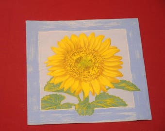 "paper flowers ""Sunflower"" theme towel"