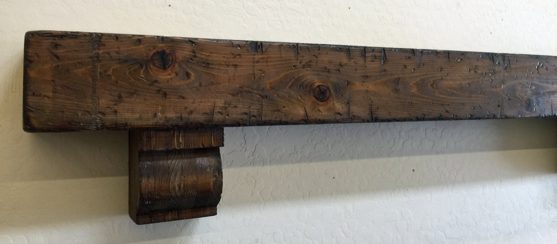 Wood Beam Mantle With Corbelsbeam Mantlefloating