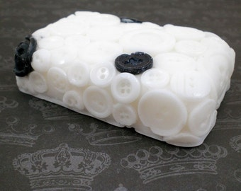 All Buttoned Up Black and White Soap