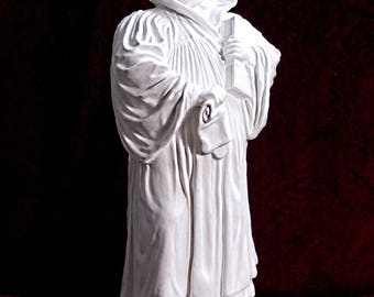 Martin Luther - sculpture made of white stone, image of the Luther monument of Lutherstadt Eisleben, sculpture, present, gift, reformation