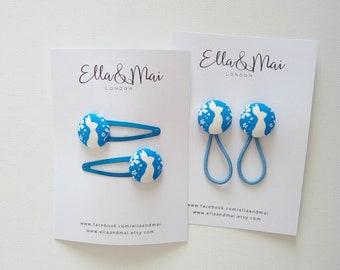 Bunny hair clip, hair clips made with Belle & Boo fabric