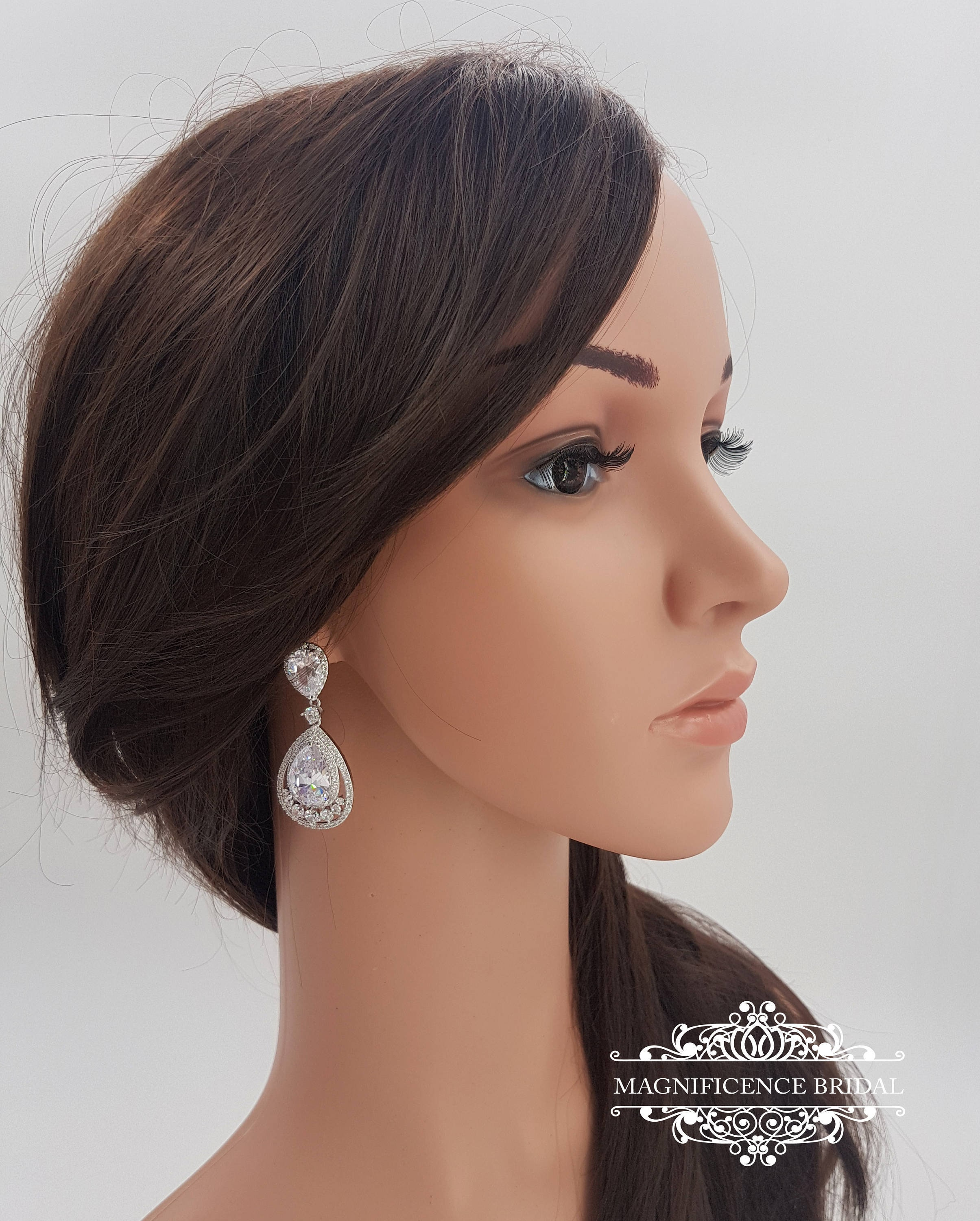 look a bridal dress complete swarovski pair of crystal wedding style pin your gorgeous earrings with drop