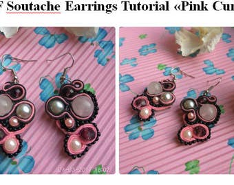 Soutache  tutorial  soutache embroidery  PDF pattern Earrings pattern Soutache earrings pattern Dangle Earrings PDF tutorial