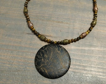 Tigerseye Forest Pendant Necklace