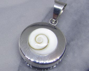Pendant 925 sterling silver and Shiva eye