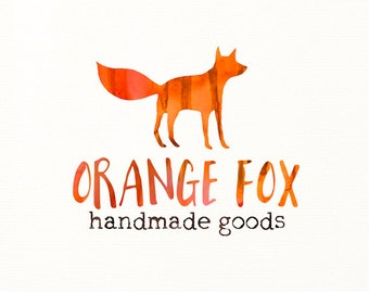 watercolor logo fox animals premade logo - Logo Design #317