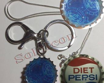 Old Diet Pepsi Star Wars BB8 Soda Cap Keychain, Pendant, Necklace