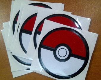 Pokemon Go Pokeball Sticker Vinyl Decal Car Laptop, Window 60mm x60mm Stickers