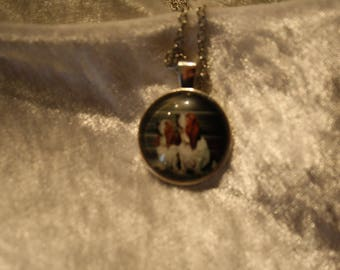 basset hound cabochon necklace