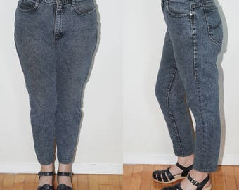 Vintage LEE Jeans Dark Blue Denim 90s High Waisted