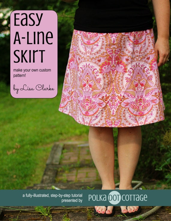 Easy A-Line Skirt Sewing Pattern and Tutorial from lisaclarkedotnet ...