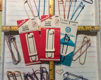 Stitch Holders, 3 inch, Medium Weight, Aluminum, Made in USA, Bates, Boye, EZYKnit, Small Lots