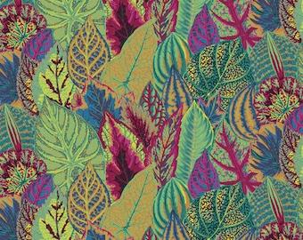 COLEUS Moss by Kaffe Fassett for Free Spirit Fabrics 100% Cotton #PWPJO30MOSSX