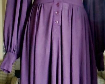 BIBA 1974 Aubergine Jersey Dress and Hat