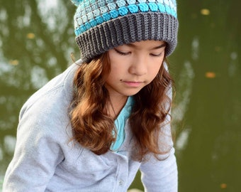CROCHET PATTERN - Winter Park Slouchy - crochet hat pattern, slouchy hat for boys & girls (Toddler Child Adult sizes) - Instant PDF Download