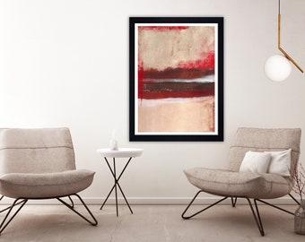 Red Abstract print, Modern Art, Contemporary Art, red abstract art, wall art, red abstract painting, modern print,