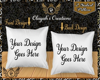 Personalized 2 Sided Pillows/ Pillow Case-Custom Pillow- Personalized Pillow- ***With or Without A Pillow Inside ***