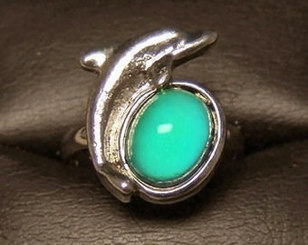 1970s Rare DOLPHIN MOOD RING Large