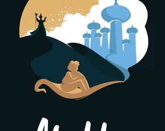 Disney's Aladdin Minimalist Poster
