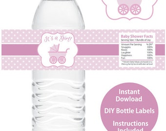 Boy Baby Shower Water Bottle Wrappers Printable Baby Shower