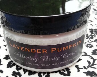 Lavender Pumpkin - Alluring Body Cream - Pumpkin Lavender Cream - Lavender Pumpkin Bewitching Cream - Aphrodisiac Body Cream