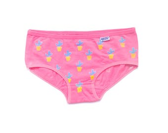 Funny Underwear - Funny Panties - Cute Intimates - Cute Panties - Cute Knickers - Kawaii Panties -  Cute Underwear - Pink Knickers- Cactus